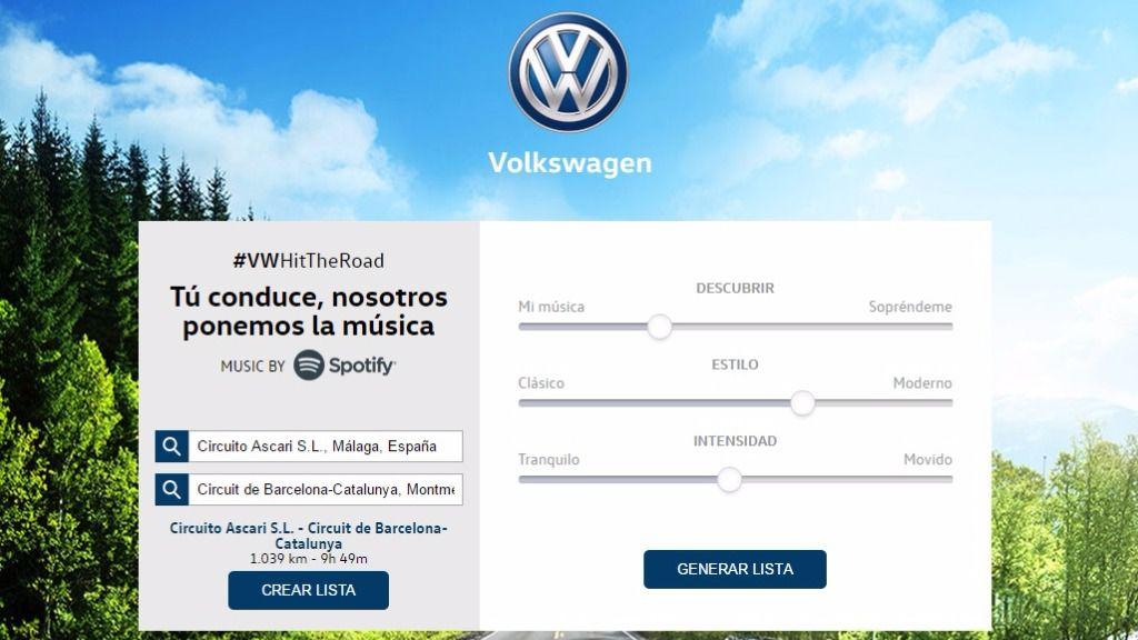 #VWHitTheRoad, la nueva aplicación de Volkswagen para crear Playlist